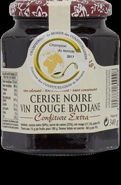Cerise, vin rouge, badiane