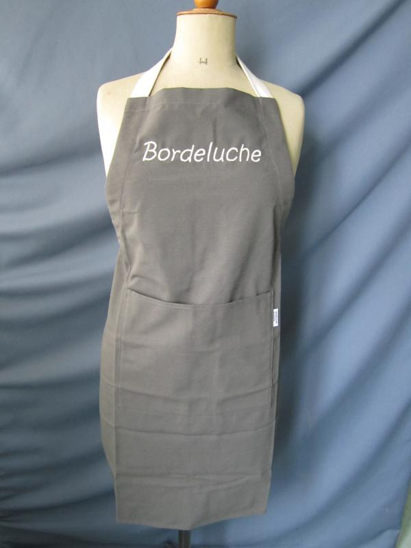 "Tablier gris ""Bordeluche"""