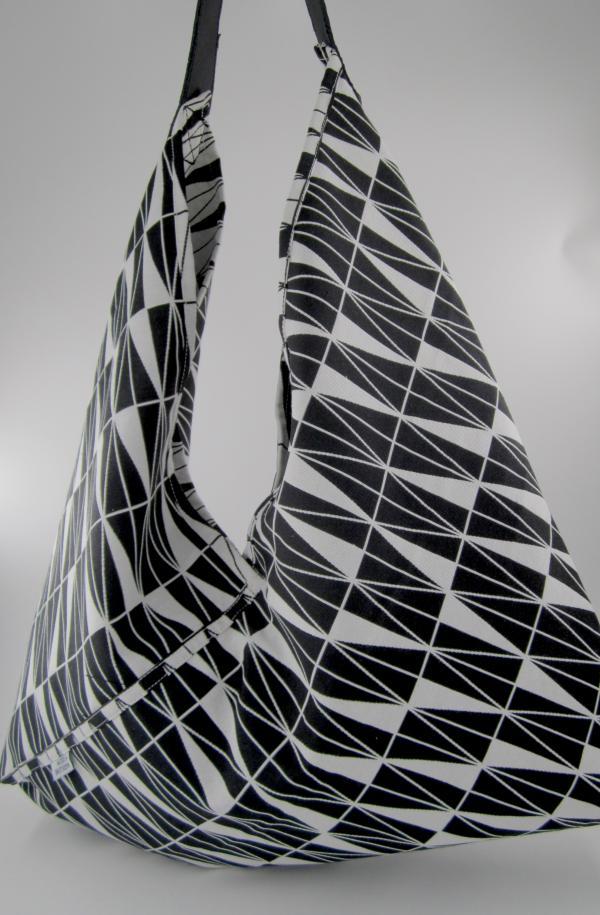 Sac cabas géométrique noir et blanc