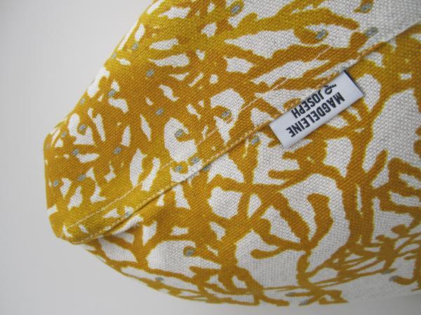 Sac cabas motif fleural jaune
