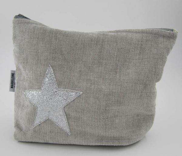 Grande pochette étoile grise
