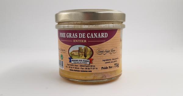 Foie gras de canard entier - 75g