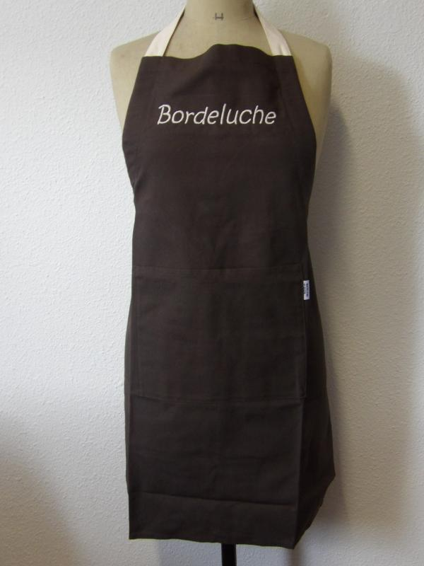 "Tablier marron ""Bordeluche"""